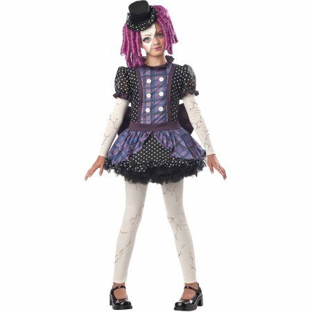 Broken Doll Child Halloween Costume, Girl\u0027s, Size Medium - cute childrens halloween costume ideas