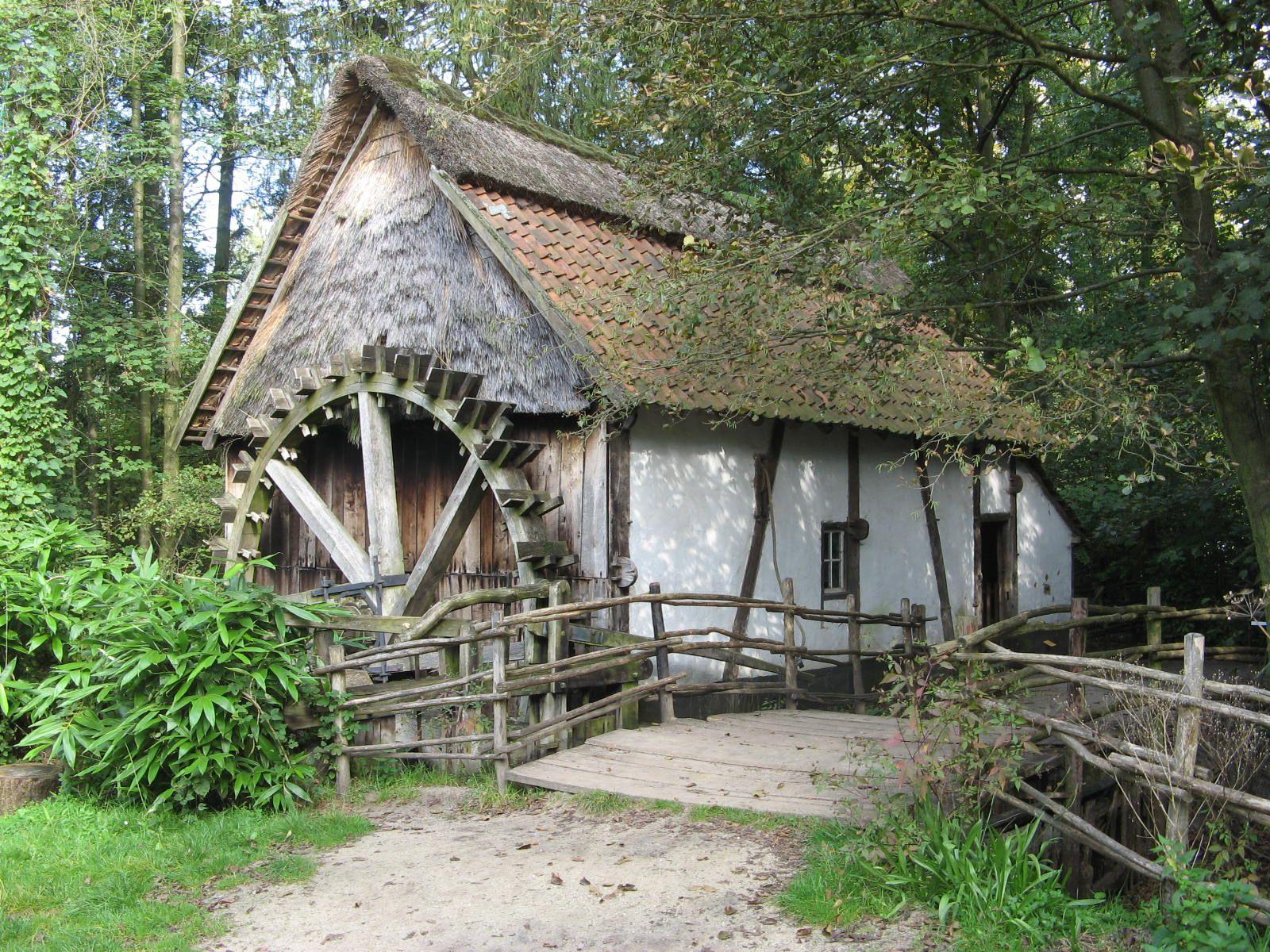 Old watermill - archeological museum Bokrijk Belgium