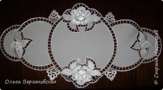 Интерьер 8 марта Гильоширование Изысканная имитация вышивки белая гладь Ткань фото 3