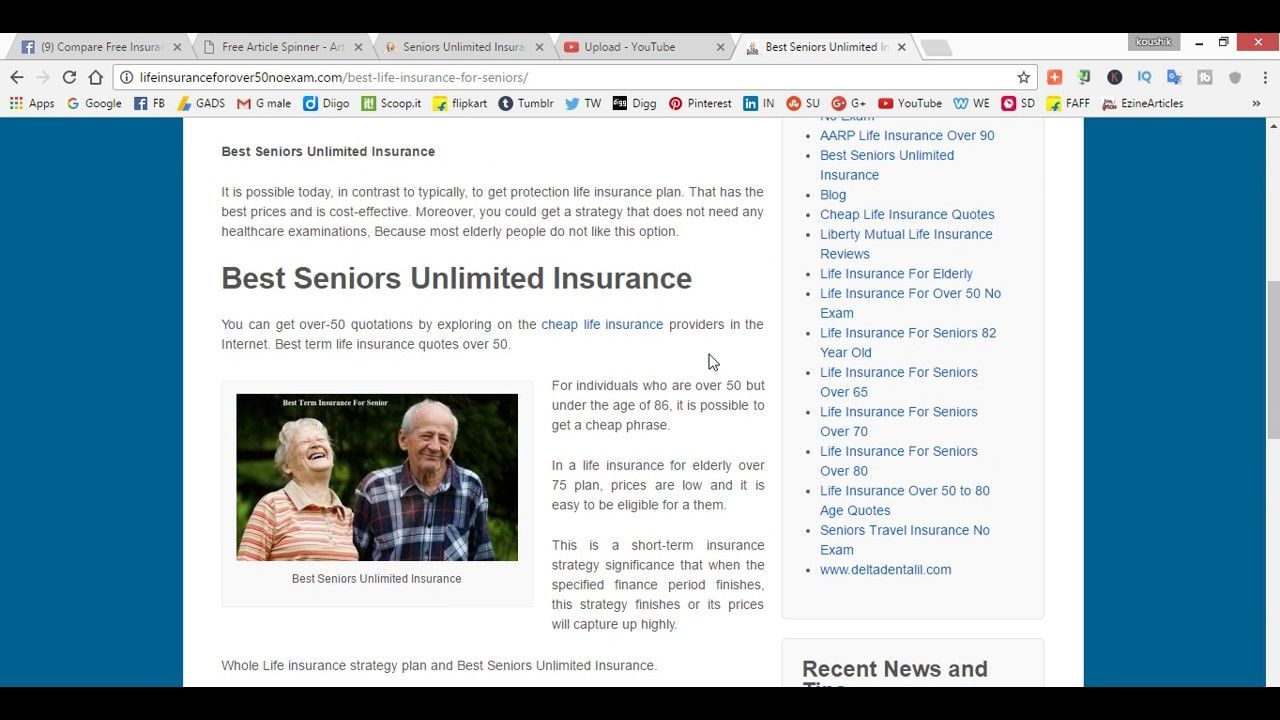 Life Insurance Quotes For Seniors Over 80 Seniors Unlimited Insurance Quotes  Finance Advice  Pinterest