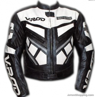 Arrow V Rod Black And White Color Motorcycle Leather Jacket Motorcycle Wear Leather Motorcycle Jacket Jackets