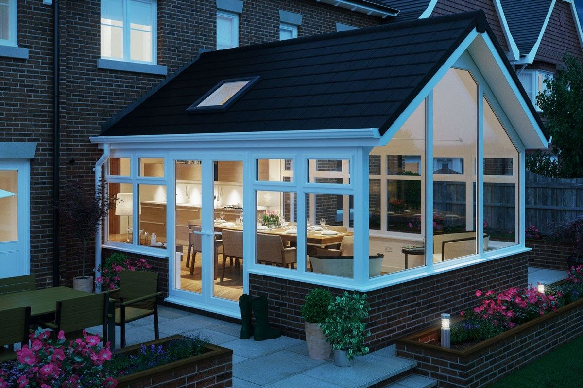 Conservatory The Nottingham Window Company In 2020 Tiled Conservatory Roof Garden Room Extensions Conservatory Roof