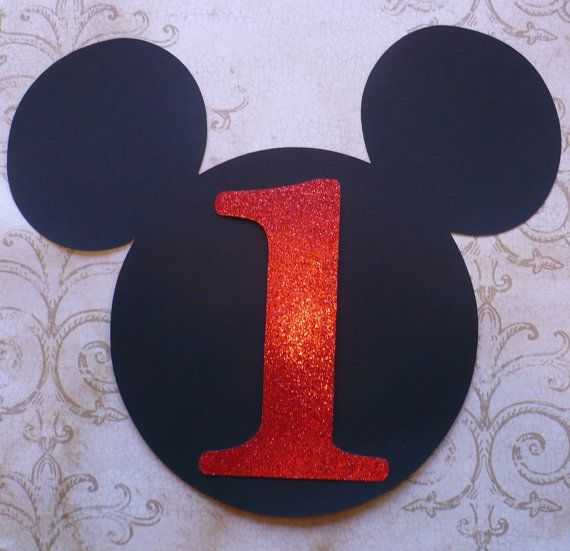 XL Mickey Mouse Head Shape 1 Die Cut For Crafts DIY Kids Birthday Party Banners Wall Door Decorations