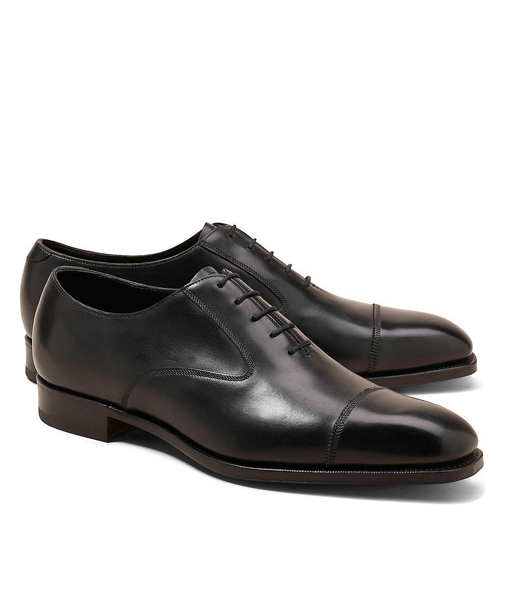 Edward Green black captoe oxford shoes