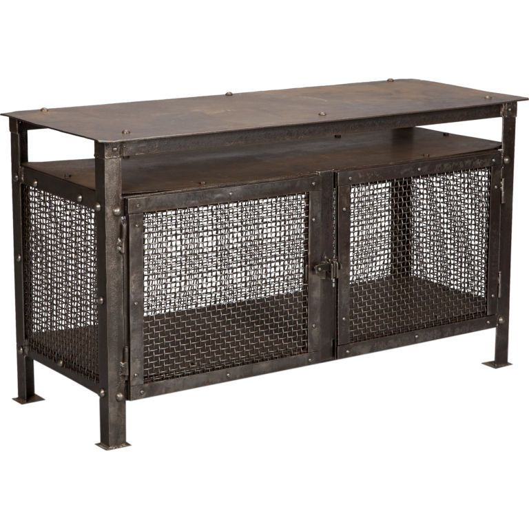 French Industrial Mesh Cabinet #frenchindustrial