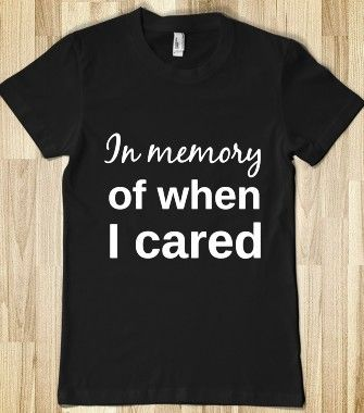in Memory of When I Cared Youth T-Shirt
