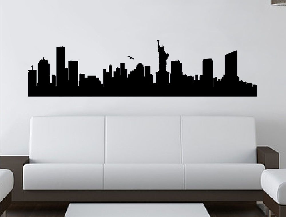 New York skyline wall sticker | New York decal | New York vinyl wall ...