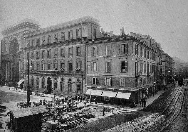 Piazza della Scala e i palazzi del lato sud | da Milàn l'era inscì
