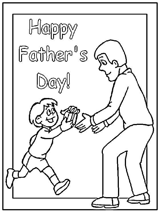 Lots Of Free Colouring Pages Card Fronts For Dad Birthday Happy Fathers Day Kids
