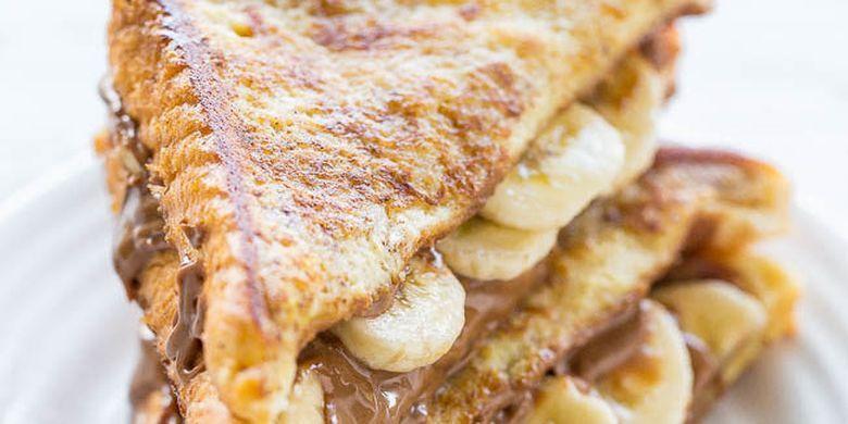 Resep Roti Panggang Pisang Nutella Ala Perancis Cocok Untuk Sarapan Anak Resep Nutella Roti Panggang Resep Roti
