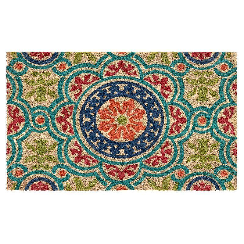 Mohawk® Home Heirloom Medallion Coir Doormat - 18'' x 30'', Multicolor
