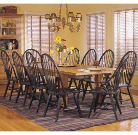9 Pc Broyhill Attic Heirlooms Oak Rectangular Leg Table Dining