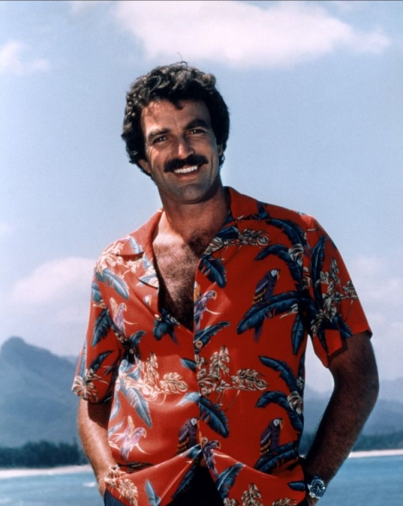 7086d2d2 Tom Selleck was TV's Hawaiian-shirted moustache wearer of the 80s as Magnum  PI