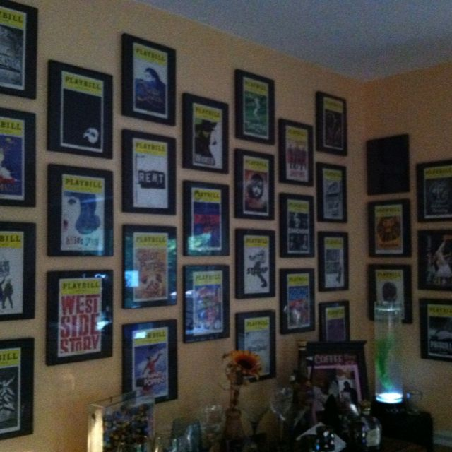 Framed broadway playbills joan 39 s favorites pinterest for Broadway bedroom ideas