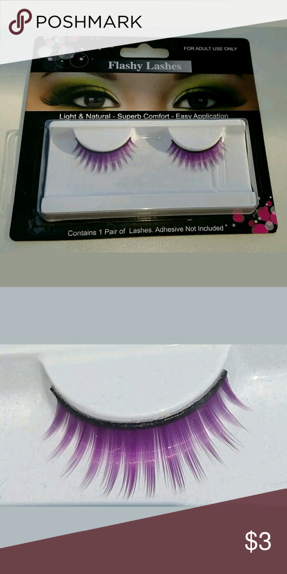 b9567104d9b New purple false eye lashes One pair of lashes. Adhesive not included.  Flashy Lashes Makeup False Eyelashes #EyeLashesTips