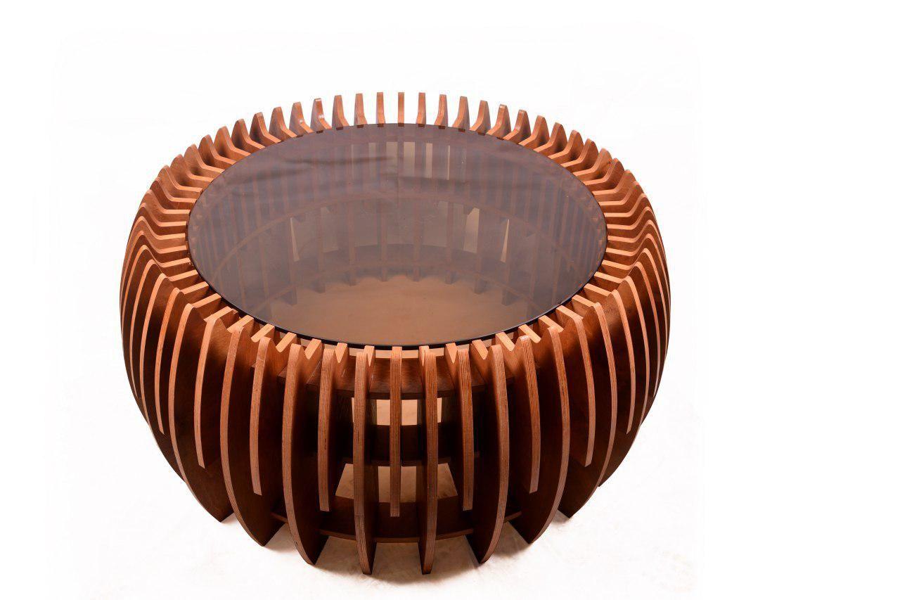 Parametric Wooden Coffee Table Paragallery میز چوبی جلو مبلی پارامتریک پاراگالری Wooden Coffee Table Decorative Bowls Coffee Table [ 853 x 1280 Pixel ]