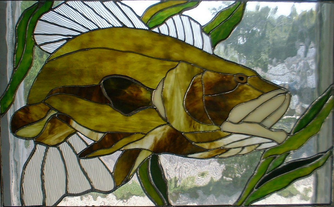 Stained glass bass fish patterns bass strike 2 features for Stained glass fish