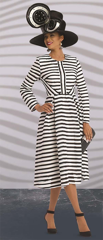 Donna Vinci 5543 Ladies Striped Dress