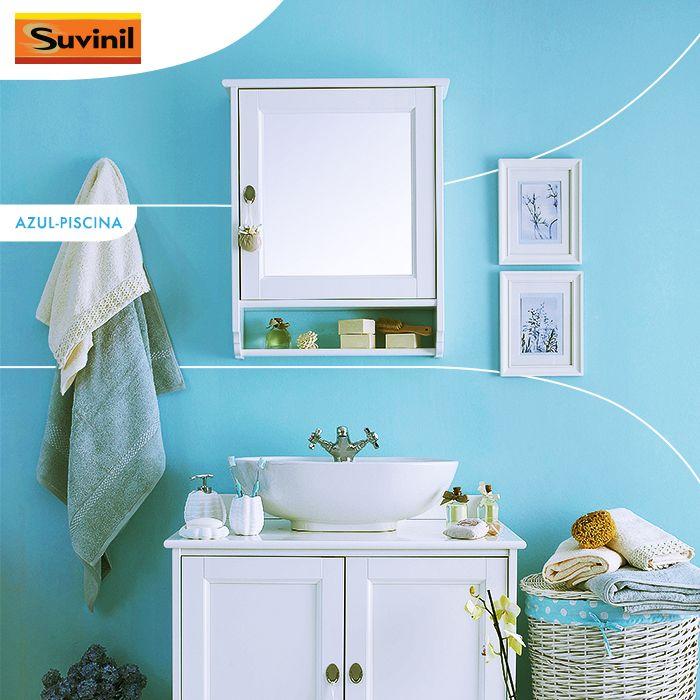 Banheiro Azul Piscina Suvinil Suvinil Azul Piscina Decoracao