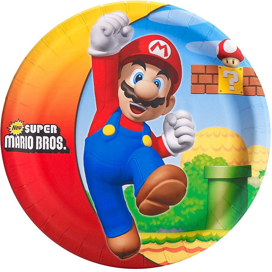 grande bo te f te super mario bros avec vaisselle nappage d corations de table et ballon. Black Bedroom Furniture Sets. Home Design Ideas