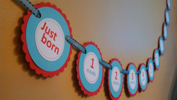 a733f7b0696e1 First Birthday Photo Banner Dr. Seuss Thing 1 Thing by MDPartyOf5 ...