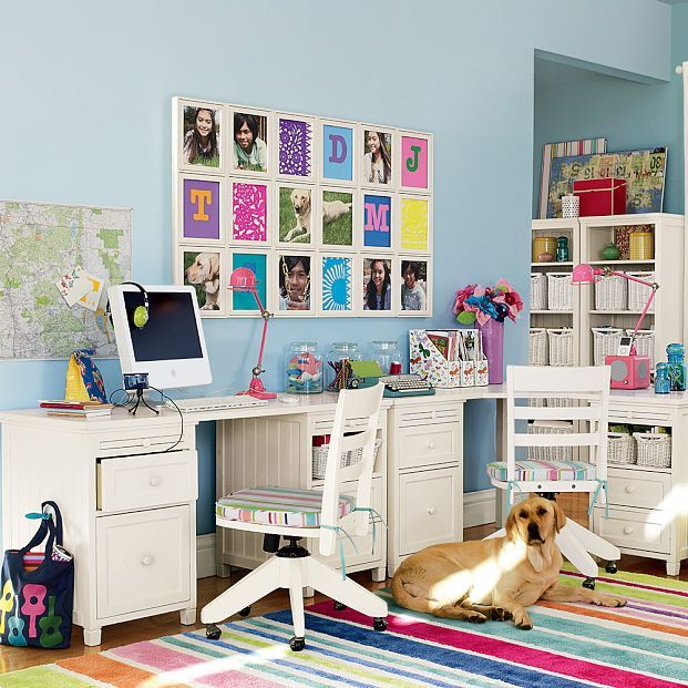 furniture study room. kids bedroom chic and cool study room furniture colorful rug with imac in