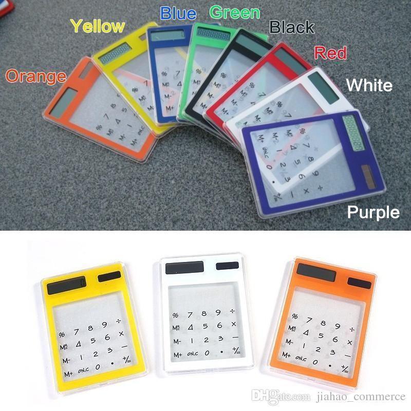 Ultra Slim Transparent Calculator