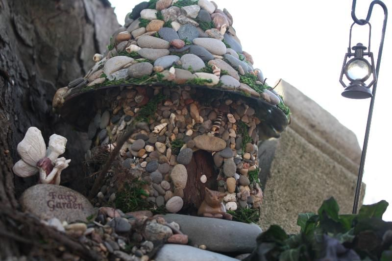 In My Fairy Garden Stone And Beach Pebble Over An Old