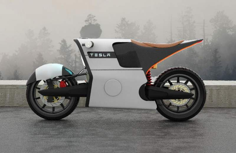 Tesla E Bike Electric Motorcycle Motorcycle Design Concept