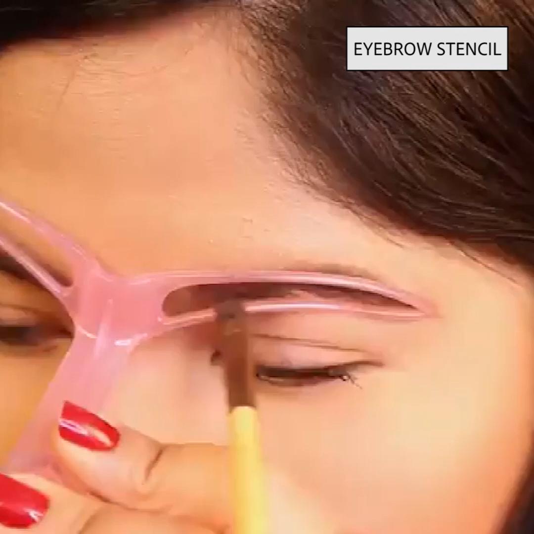 Photo of Eyebrow Stencils Kit Grooming Card Eyebrow Makeup Tools