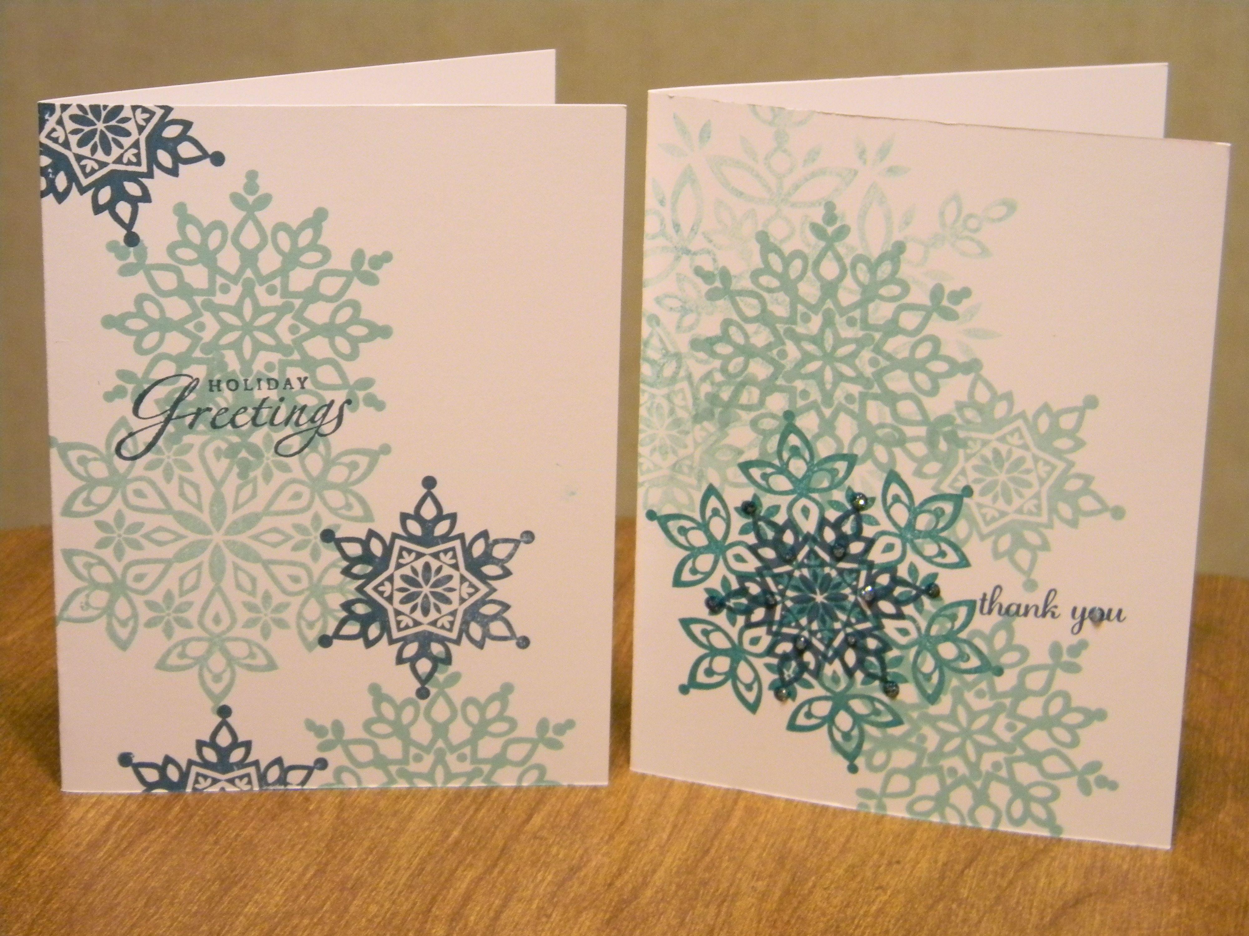 Winter Stamp Camp Sample using Festive Flurries set, Winter Wonder DSP, Festive Flurries Framelits