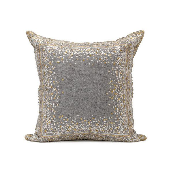 Kim Seybert Dotted Geo 40 X 40 Pillow Found On Polyvore Classy Kim Seybert Living Decorative Pillows