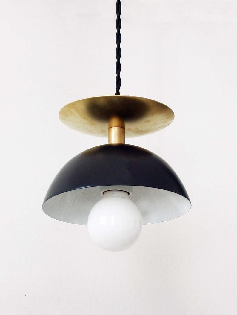 inspiring mid century hanging light bedroom | Black Brass Modern Pendant Lamp Entryway Mid Century Light ...