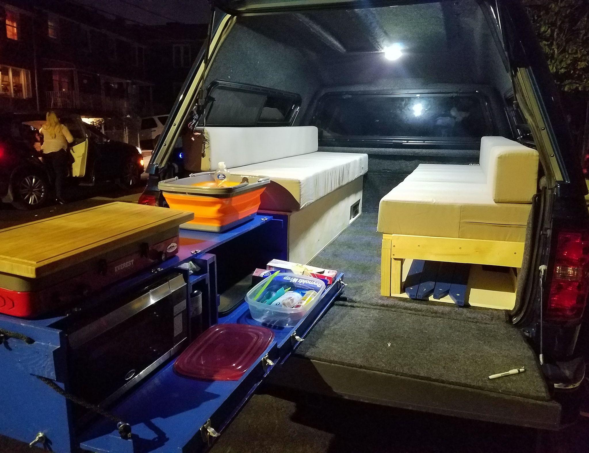 credit to Daniel Patrick Southern fb pick up truck camping
