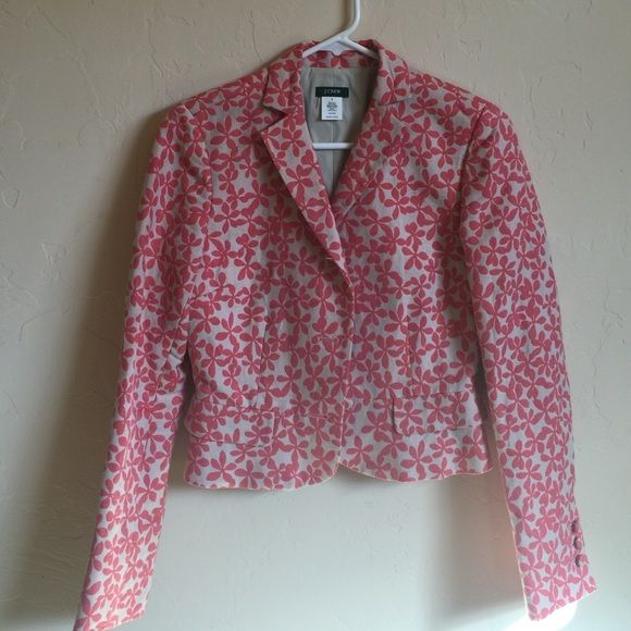 Jcrew linen blend jacket Lovely JCrew jacket in linen cotton blend NWOT J. Crew Jackets & Coats