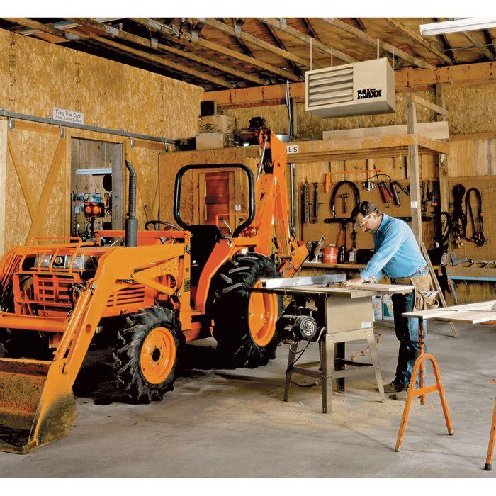 Mr Heater Big Maxx Natural Gas Garage Workshop Unit Heater 50 000 Btu Lp Conversion Kit Model F260550 Garage Workshop Workshop Heater Small Room Design