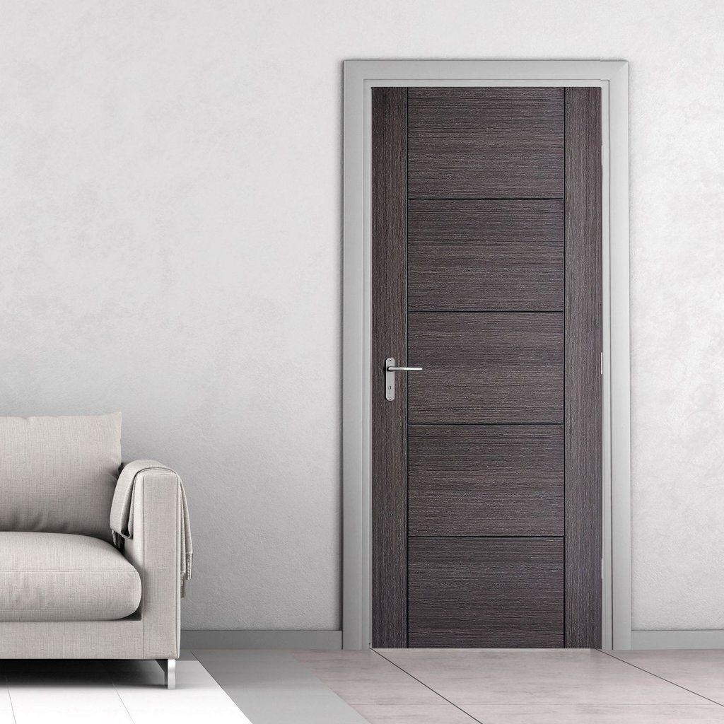 Vancouver Ash Grey Fire Door 1 2 Hour Fire Rated Prefinished Internal Doors Modern Grey Interior Doors Grey Internal Doors