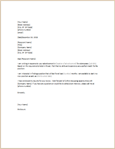 Resume Cover Letter For Temporary Position Download At HttpWww