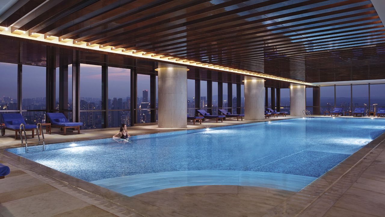 Ritz Chengdu  The Extraordinary 25 Meter Heated Indoor Swimming Pool  Includes An Underwater Music System.