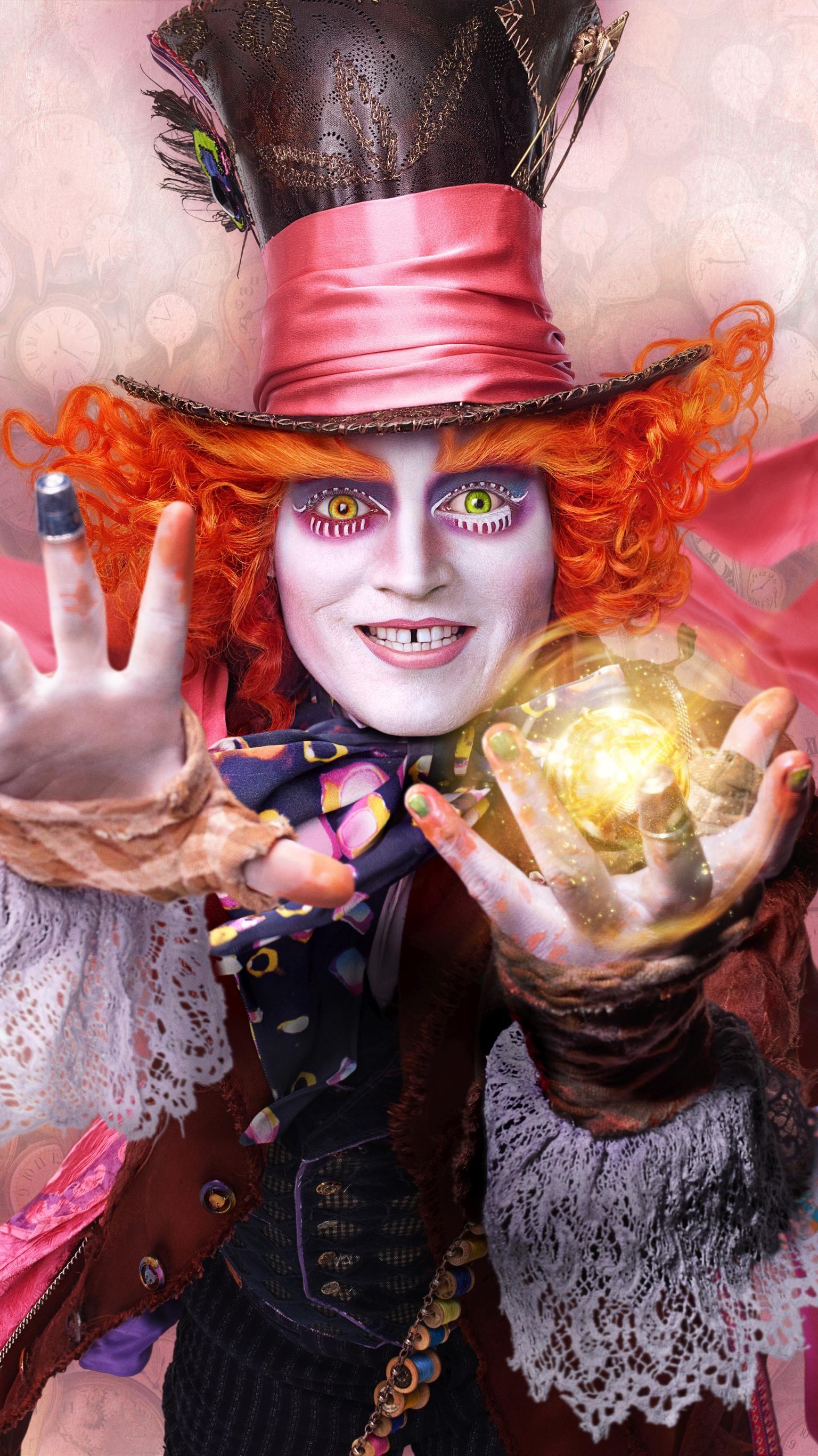 Alice Through The Looking Glass 2016 Phone Wallpaper Moviemania Alice In Wonderland Disney Film Alice In Wonderland Mad Hatter Disney