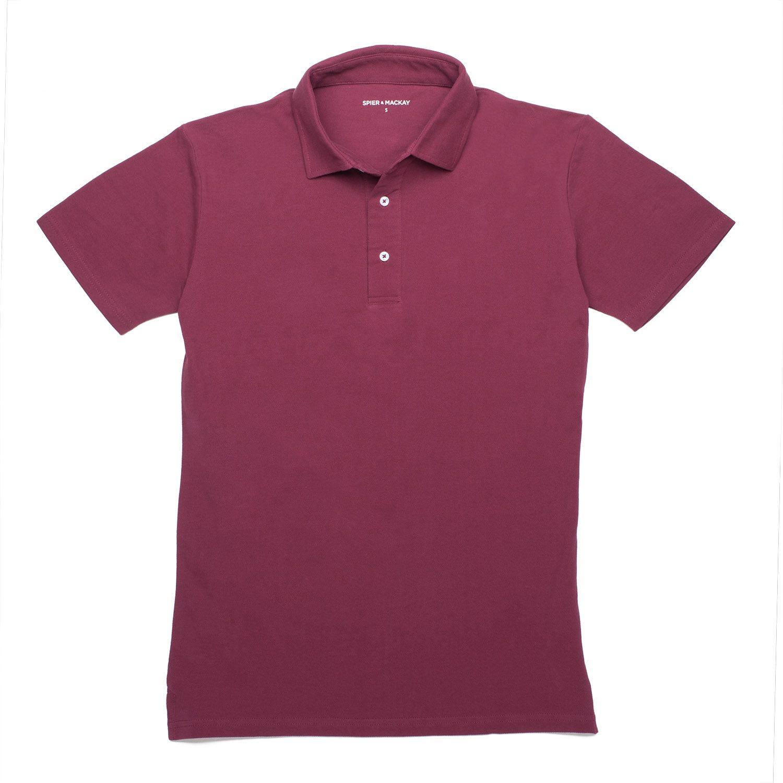 89690ff8983 Burgundy Polo - Shirt Collar - polos
