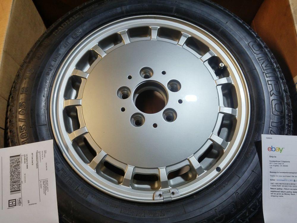 Mercedes benz 190e w201 wheel oem part 2014011102 185 for Mercedes benz 190e rims