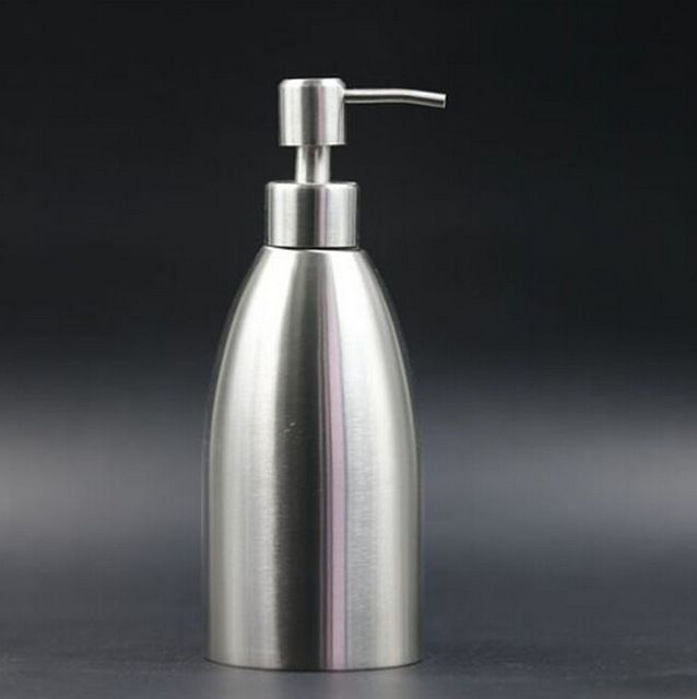 500ml Liquid Soap Dispenser Stainless Steel Hand Sanitizer Bottle
