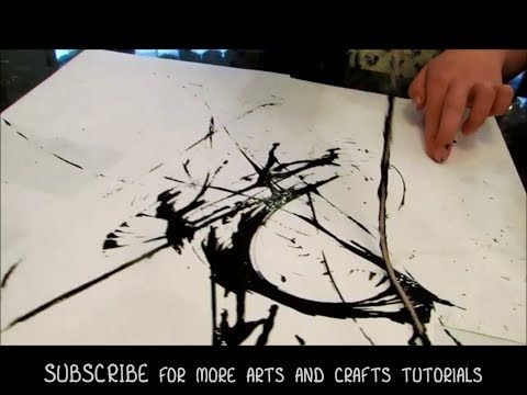 how to do paint and string art abstract art lesson. Black Bedroom Furniture Sets. Home Design Ideas