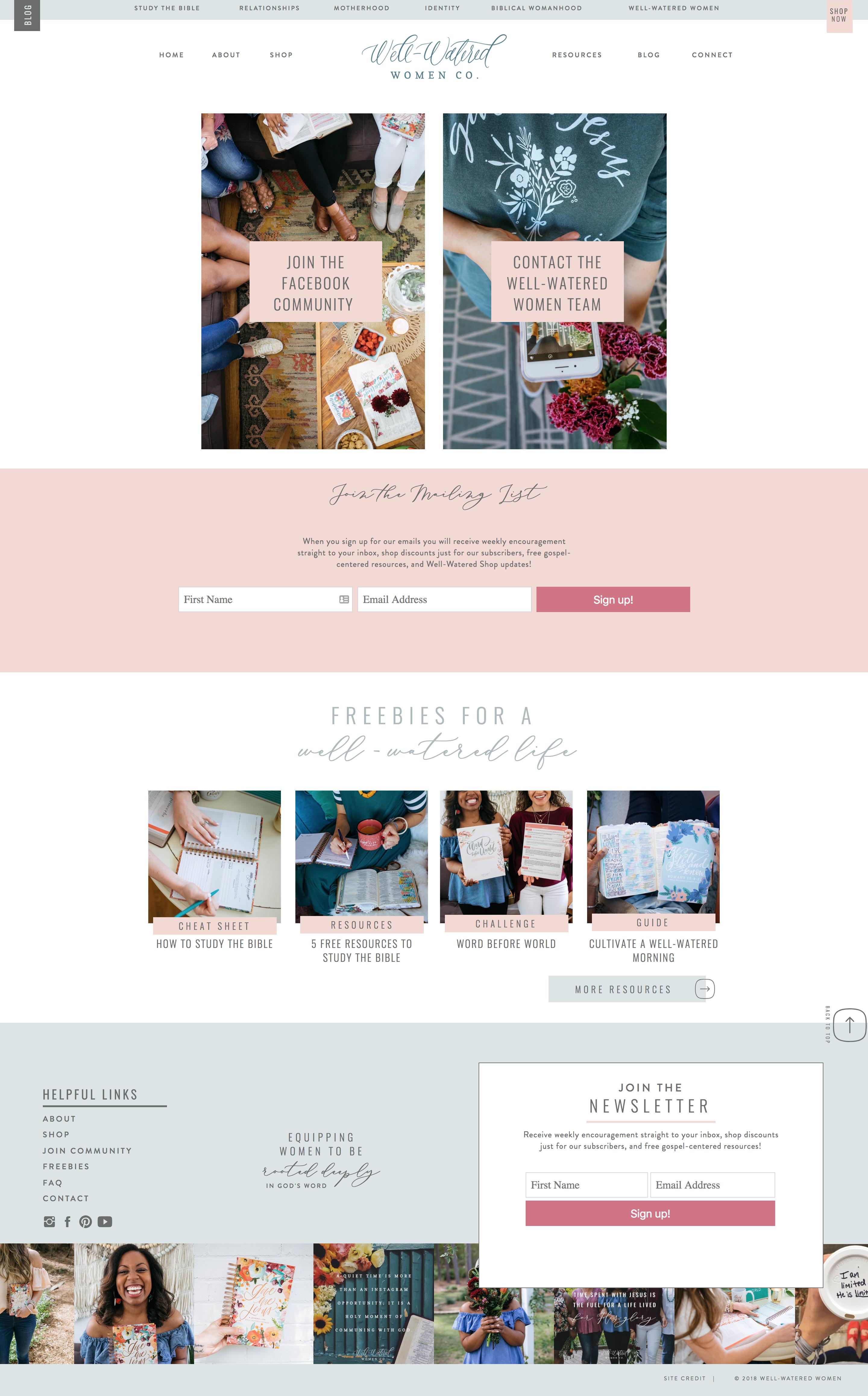 Well Watered Women Branding Website Design Elizabeth Mccravy Therapy Website Design Web Development Design Website Branding