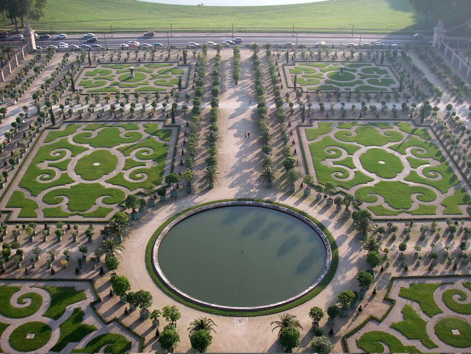 Ordinary Les Jardin De Versailles #6: Orangerie, Jardins De Versailles : Vue Aérienne Du Bassin