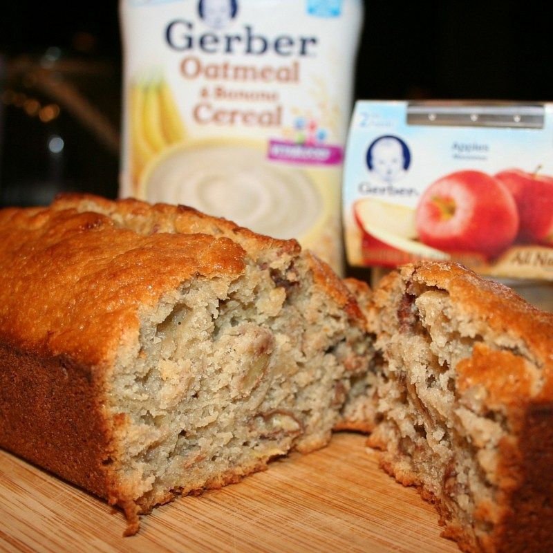 Banana nut bread made with gerber cereal cookingwithgerber ad banana nut bread yummy version of our familys favorite recipe that can be made with or without gerber baby food you may have in your home forumfinder Choice Image