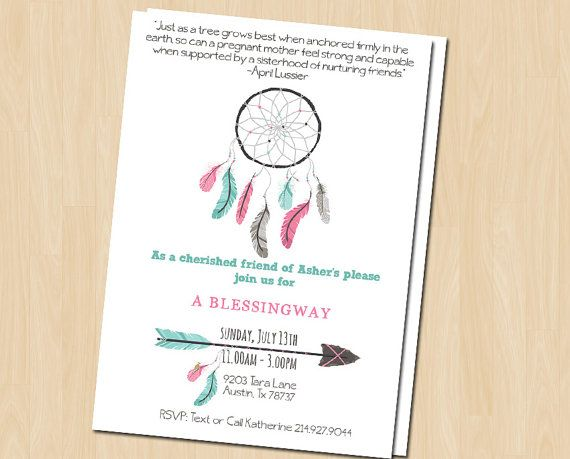 This invitation is specifically designed for a Blessingway or Mother