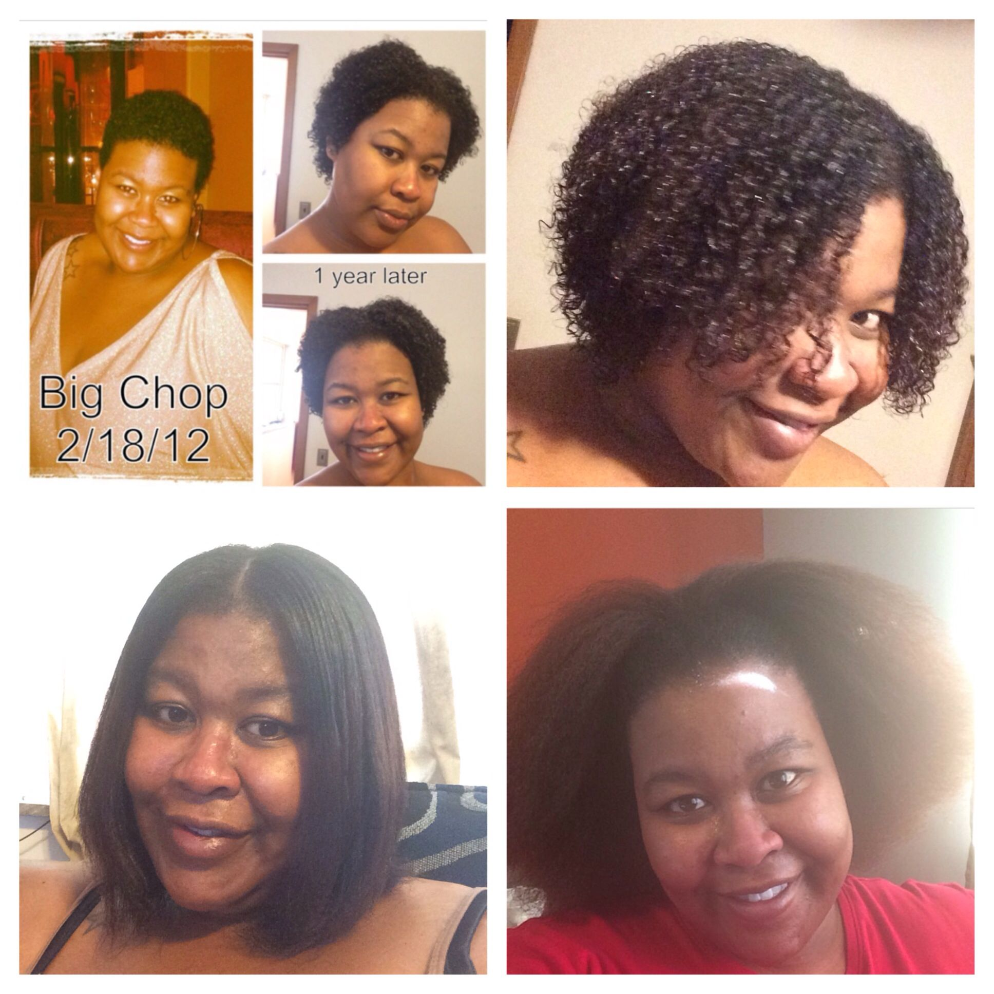 my natural hair journey. 2 years after big chop! #bigchop