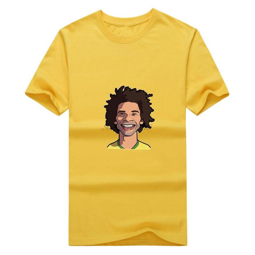 a4e5800f3d1 Click to Buy    Men Marcelo Vieira da Silva Junior  12 real clown captain T- shirt Clothes T Shirt Men s madrid o-neck tee W17072503  Affiliate